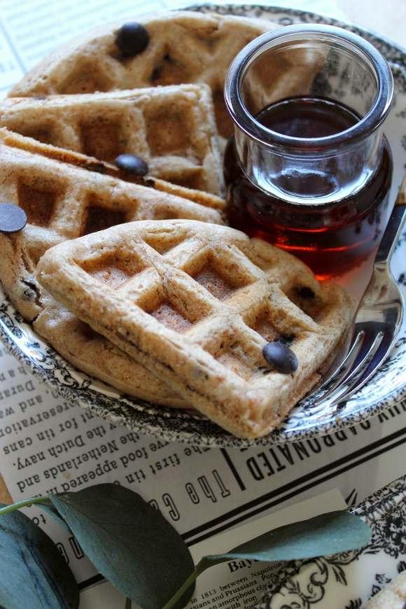 Waffles integrali con farro e avena vegani