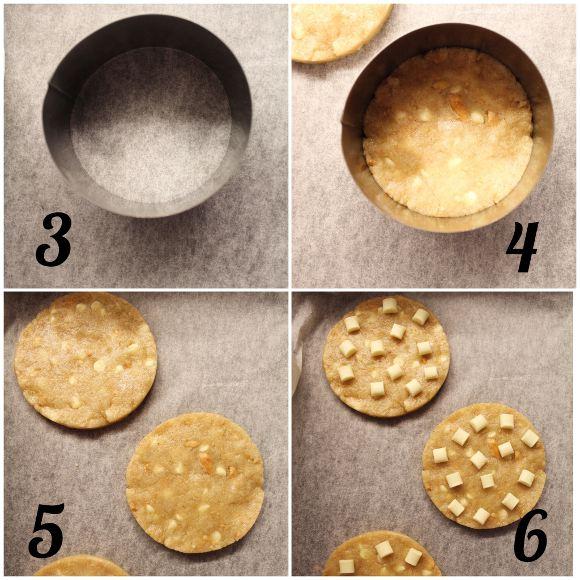procedimento dei Cookies con gocce di cioccolato bianco e arachidi senza uova senza burro