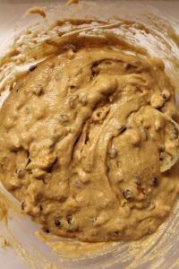Mini plumcake avena noci e gocce di cioccolato vegan preparazione