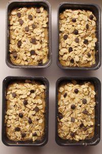 Mini plumcake avena noci e gocce di cioccolato vegan procedimento
