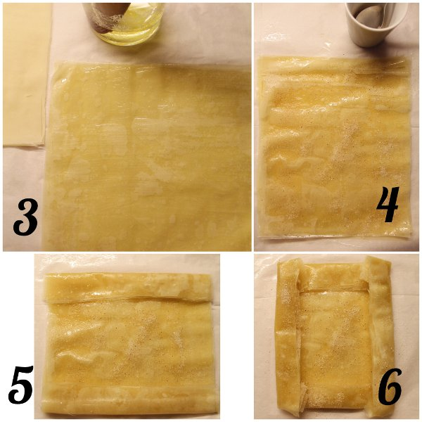 Galette di pasta fillo crema di nocciole e banane procedimento