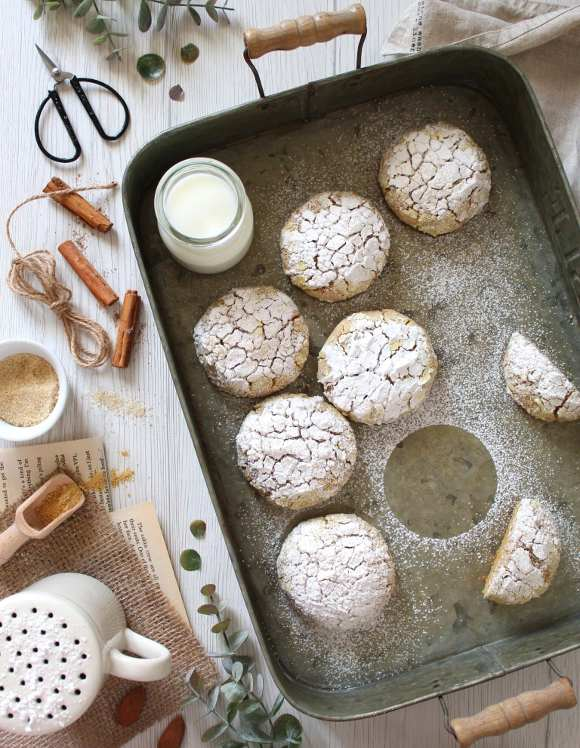Crinkle cookies alle patate dolci senza glutine e vegan