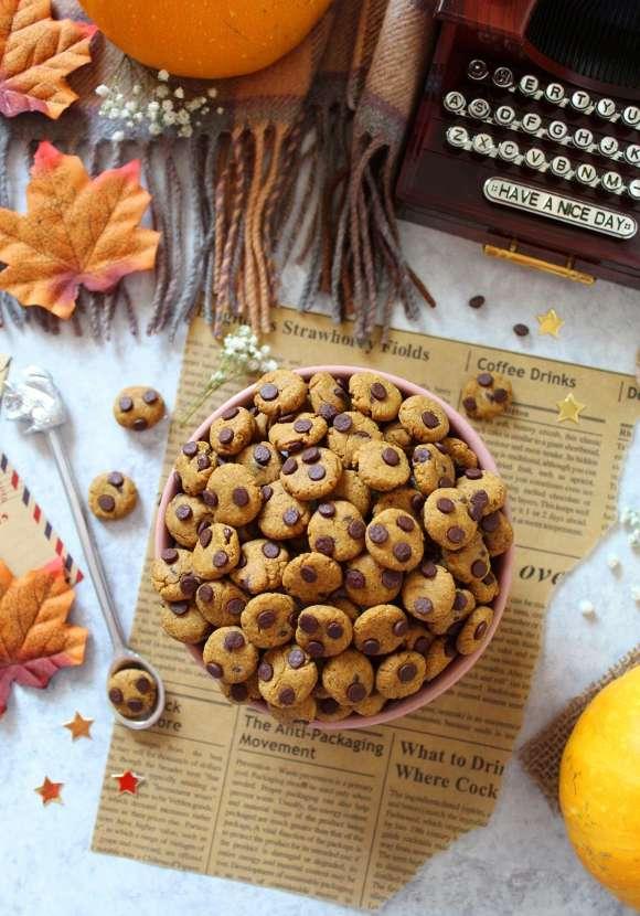 Cereali integrali cookies vegani alla zucca