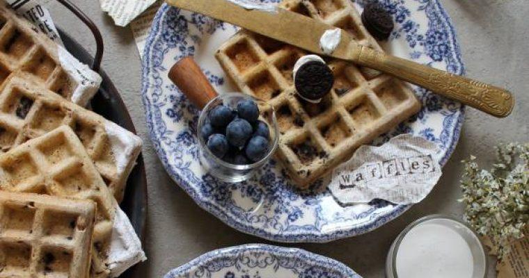 Waffles oreo senza uova senza burro