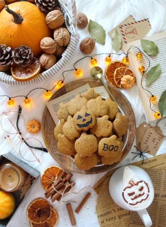 Cereali mini biscotti alla zucca pumpkin spice senza uova senza burro