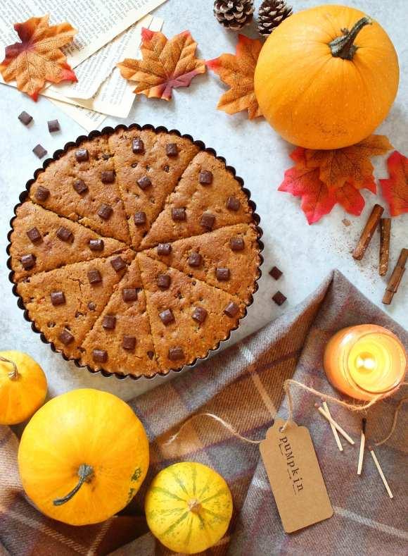 Torta Cookie alla zucca senza glutine senza uova senza burro