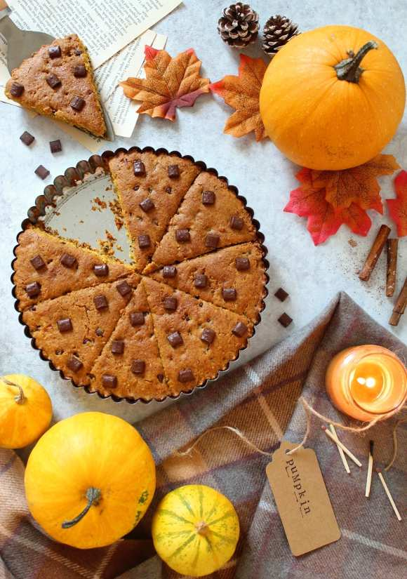 Torta Cookie alla zucca senza glutine