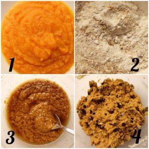 procedimento della Torta Cookie alla zucca senza glutine senza uova senza burro