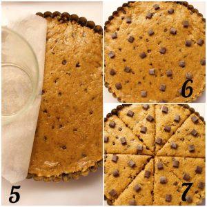 preparazione della Torta Cookie alla zucca senza glutine senza uova senza burro