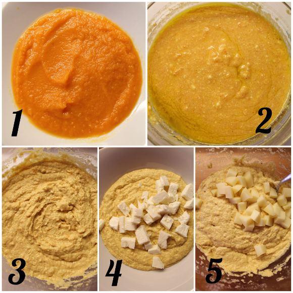 Tortine salate alla zucca senza uova