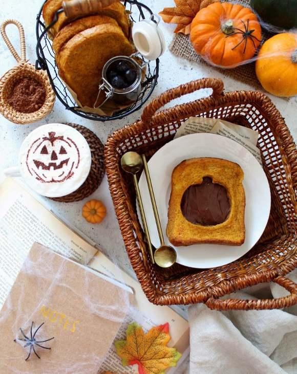 French toast al forno alla zucca senza uova
