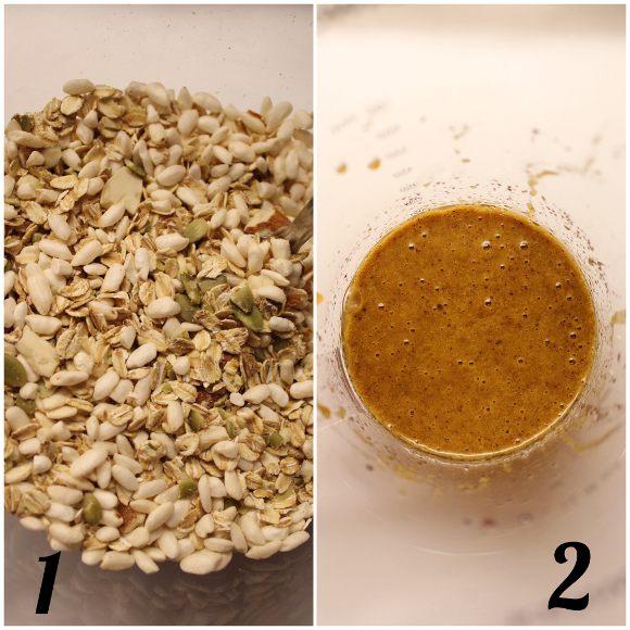 Granola alla zucca homemade preparazione