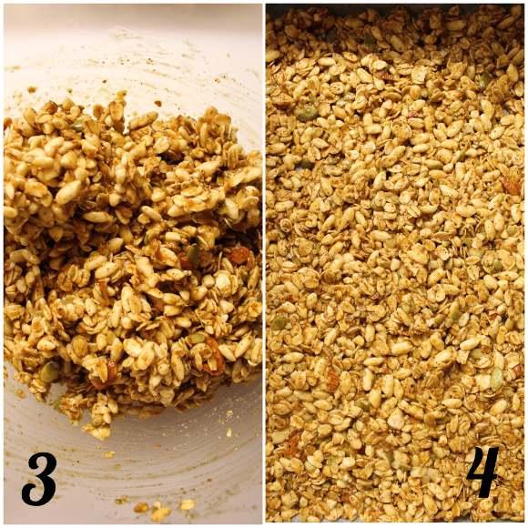procedimento della Granola alla zucca homemade