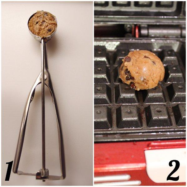 Biscotti waffle cookies speziati con gocce di cioccolato senza lattosio senza uova procedimento