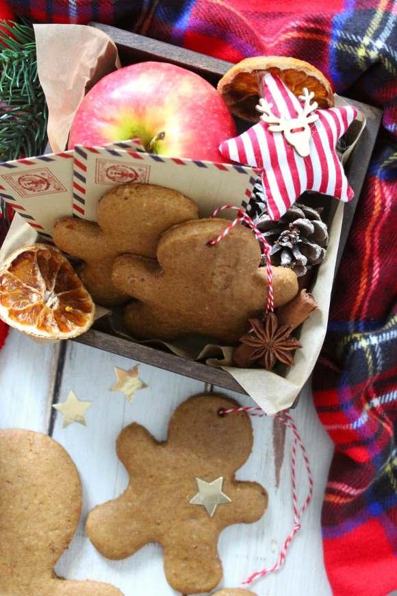 Biscotti gingerbread senza glutine e vegani alla zucca
