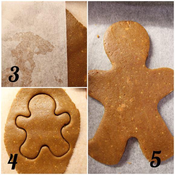 Biscotti gingerbread alla zucca senza glutine e vegani procedimento
