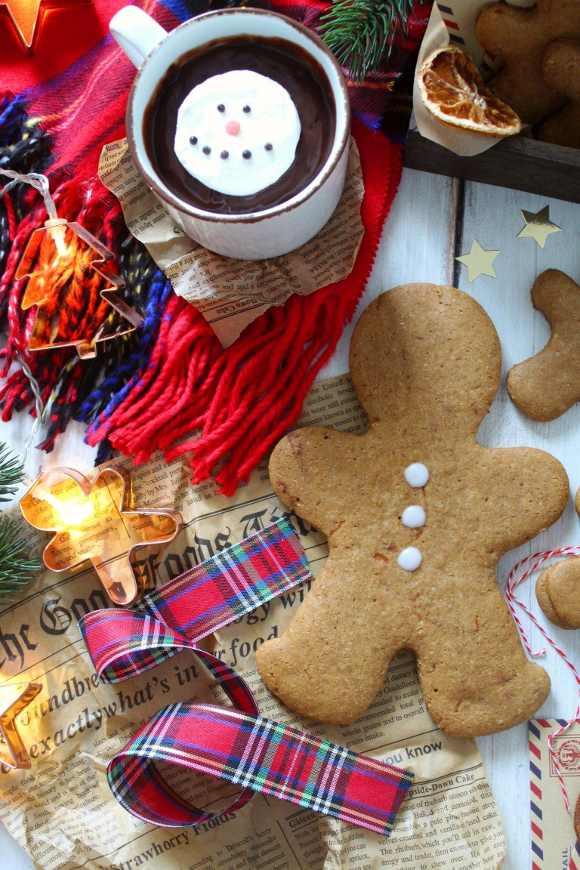 Biscotti gingerbread alla zucca vegani e senza glutine