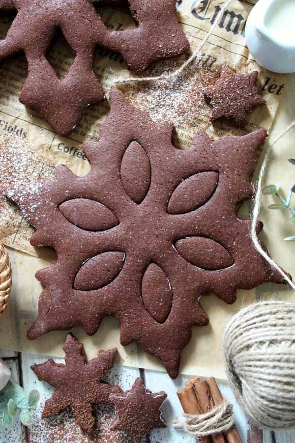 Biscottoni vegan Fiocchi di neve