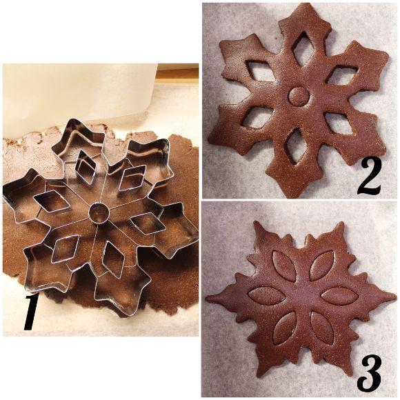 procedimento dei Biscottoni Fiocchi di neve al cacao vegan