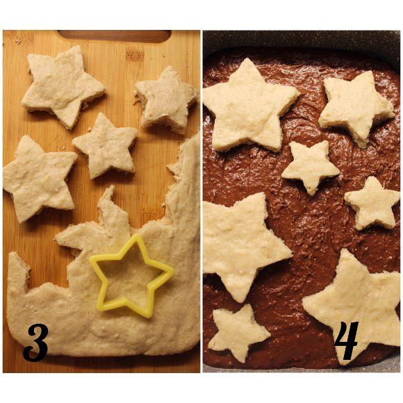 procedimento Torta nella torta di pan di spagna stellata vaniglia e cacao vegan