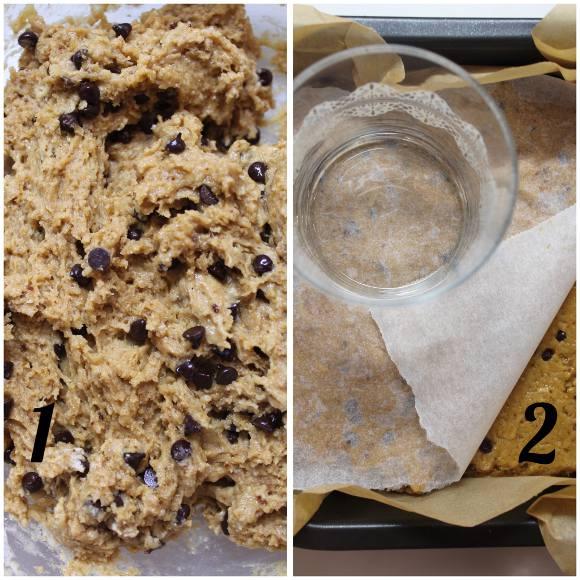 procedimento Biscottone di Natale al burro di arachidi e gocce di cioccolato senza uova