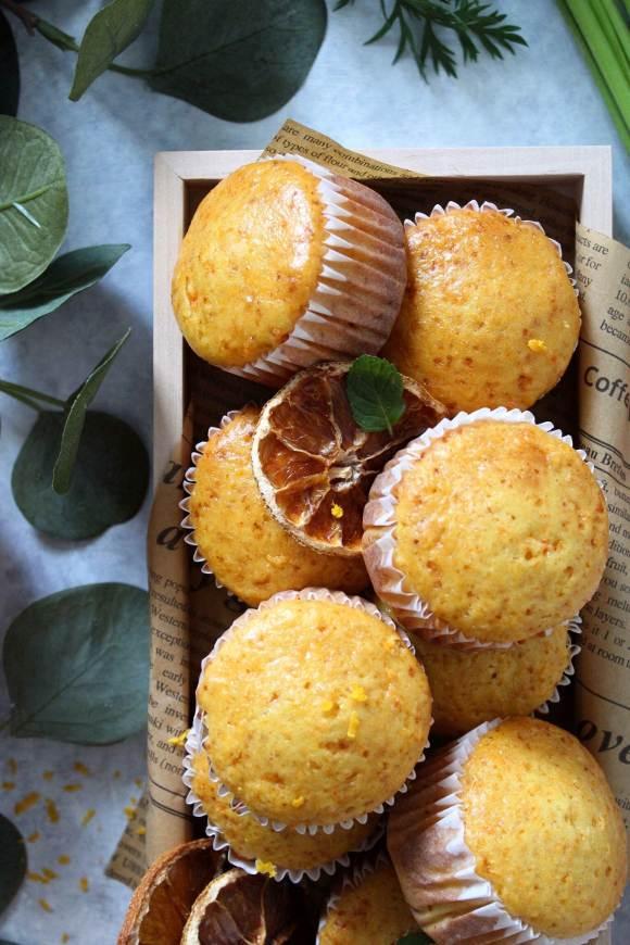 Muffin arancia e carote senza lattosio