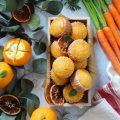 Muffin carote e arancia senza lattosio senza uova