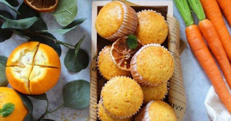 Muffins carote e arancia senza lattosio senza uova