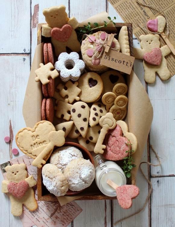 Scatola di biscotti (cookie box) di San Valentino