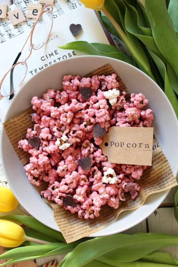 Popcorn dolci al cioccolato ruby