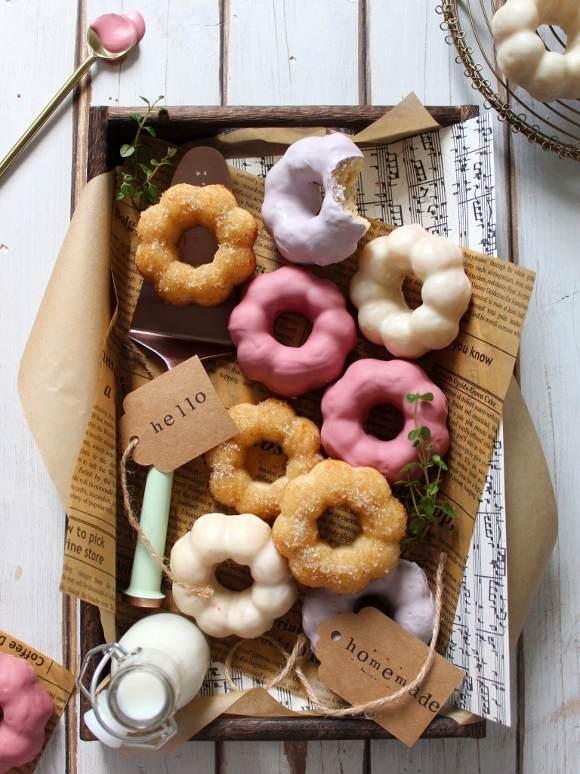 Ciambelle al forno pon de ring donuts homemade