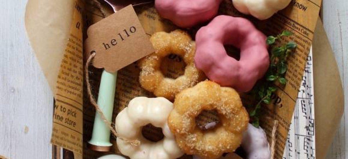 Ciambelle al forno con formaggio spalmabile simil pon de ring donuts homemade