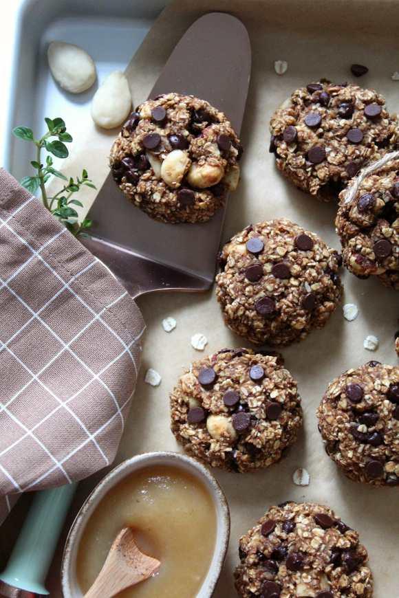 Oatmeal cookies con purea di mele vegan
