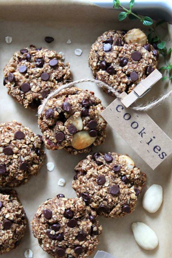 Oatmeal cookies con mandorle e nocciole