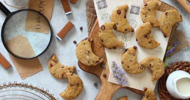 Biscotti con gocce di cioccolato simil mulino bianco bio fatti in casa senza burro