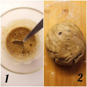preparazione dei Biscotti simil fattiincasa Di Leo avena e orzo con gocce di cioccolato vegani
