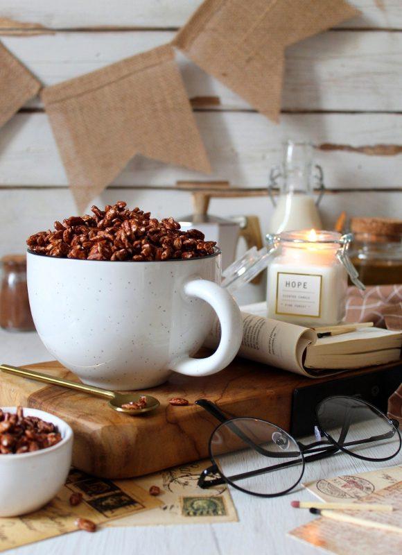 Cereali simil coco pops al cacao con miele e nesquik fatti in casa
