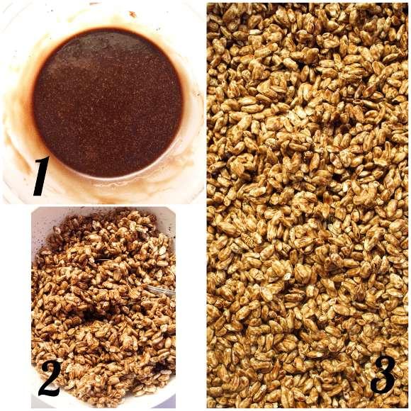 Cereali simil coco pops al cacao con nesquik fatti in casa preparazione