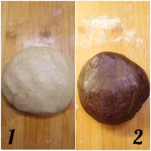 Biscotti con timbro a tema Pasquale vaniglia e cacao senza uova senza burro preparazione