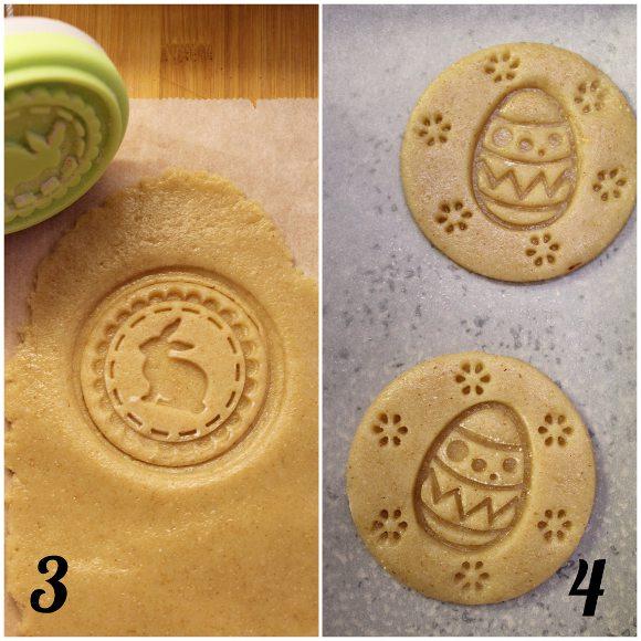 Biscotti con timbro a tema Pasquale vaniglia e cacao senza uova senza burro procedimento