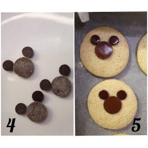 procedimento Sandwich cookies con decorazioni a forma di Topolino Mickey Mouse senza uova senza burro