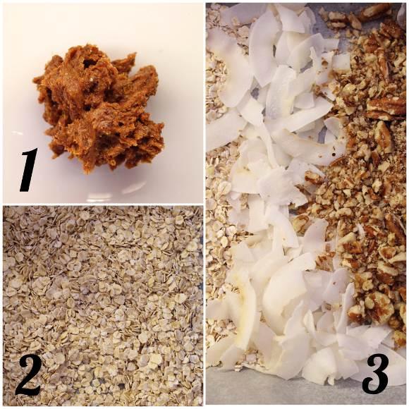 Barrette quadrate datteri miele noci pecan cioccolato fondente senza lunghi tempi di cottura preparazione