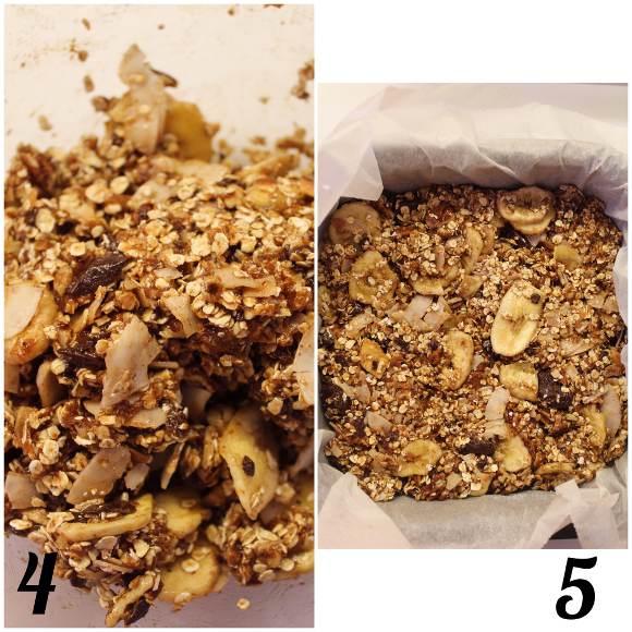 procedimento Barrette quadrate datteri miele noci pecan cioccolato fondente senza lunghi tempi di cottura