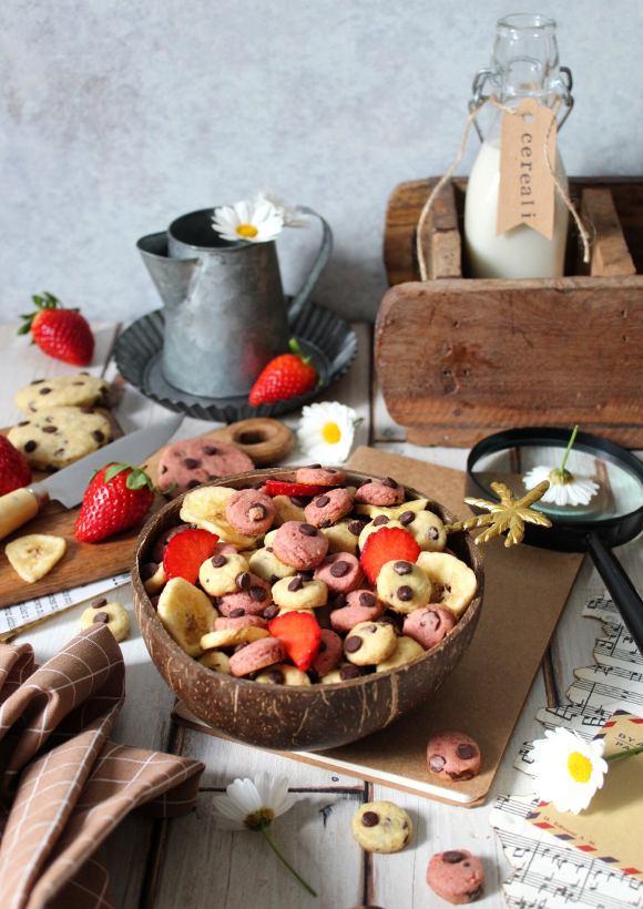 Cereali tipo cookie fragola e banana