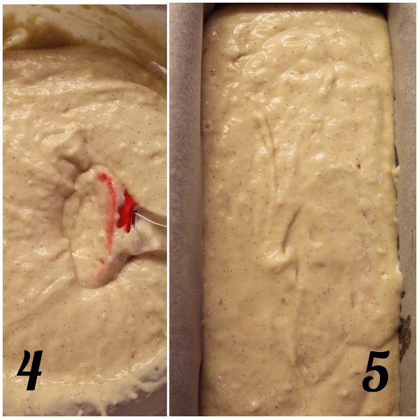 Hot milk sponge cake: Plumcake al latte caldo con burro di anacardi e yogurt greco senza uova procedimento