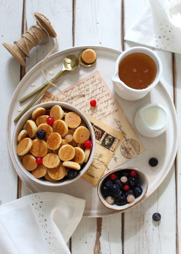 mini pancakes cereali senza uova senza lattosio