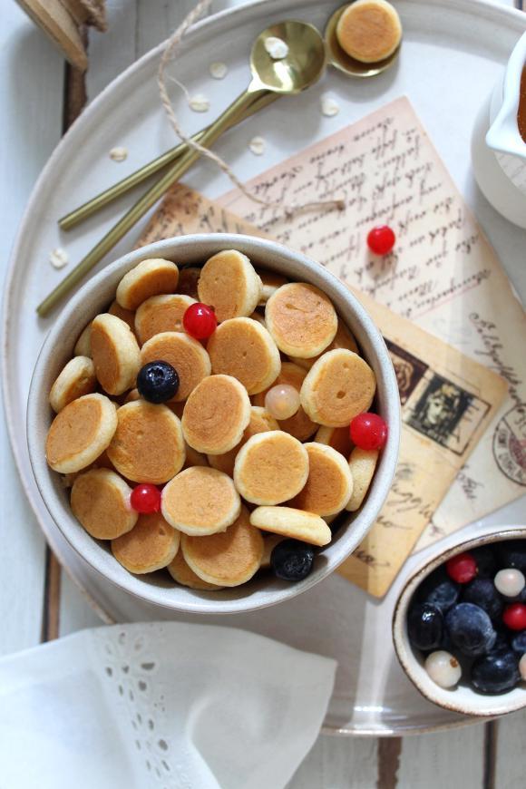 pancakes a forma di cereali senza uova senza burro