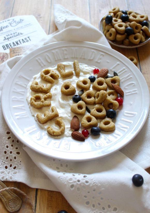 Cereali homemade ciambelline a forma di cuore