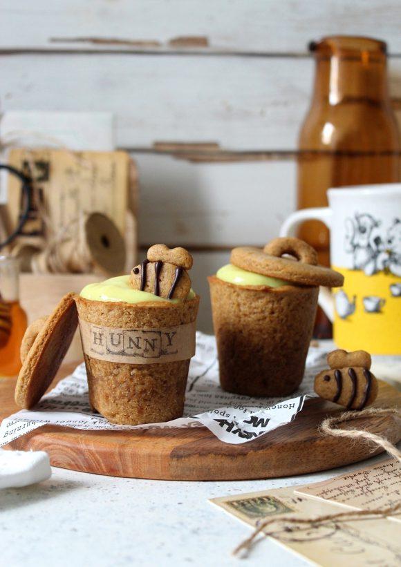 Cookie cups con crema al miele Winnie The Pooh