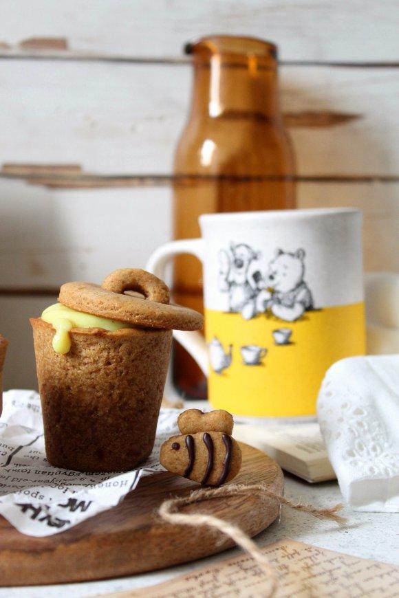 Cookie cups con crema al miele e curcuma Winnie The Pooh senza uova